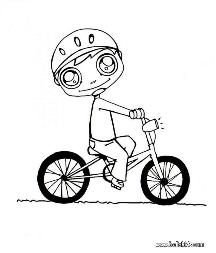 Desenhos Para Colorir De Andando De Bicicleta Pt Hellokids Com