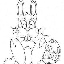 Desenho de um coelhinho da Páscoa para colorir