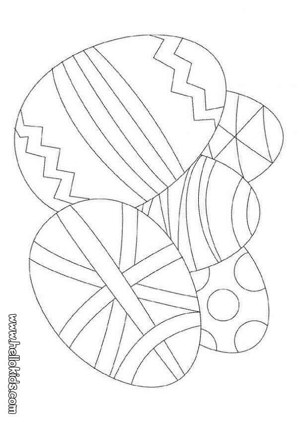 Desenhos Para Colorir De Desenho De Ovos De Pascoa Para Colorir