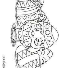Desenho de lindos ovos de páscoa para colorir