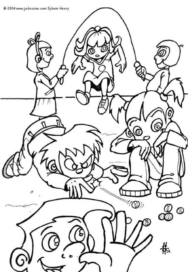 Desenhos Para Colorir De Desenho De Criancas Brincando Para