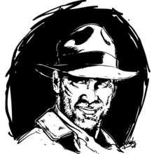 Desenho do Indiana Jones para colorir online