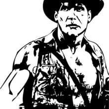 Desenho do Indiana Jones para colorir