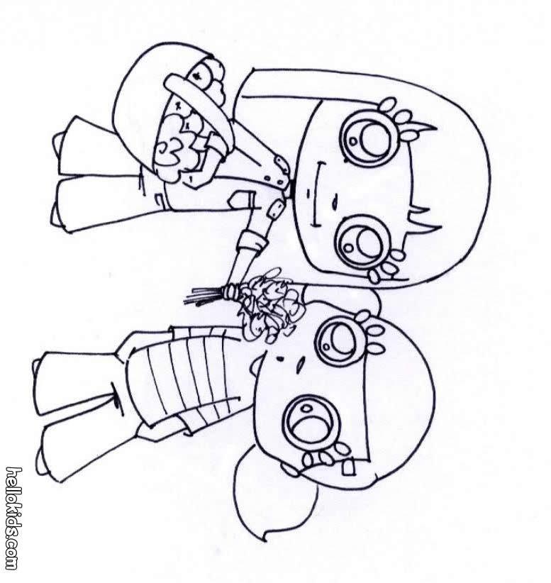 desenhos para colorir de desenho de uma menina fazendo cookies de