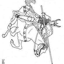 Desenho de Cavaleiros para colorir