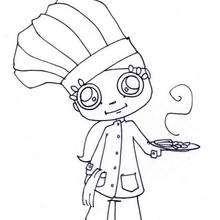 cozinhar, Desenho de um chefezinho para colorir