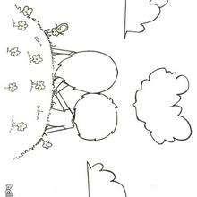 Desenho de um casal para colorir