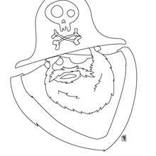Desenho de um velho  pirata para colorir