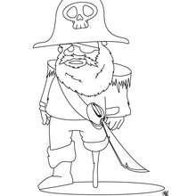 Desenho de um pirata feio para colorir