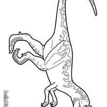 Desenho de um Alossauro pré-histórico para colorir