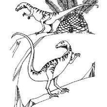 Desenho de um carnívoro pré-histórico para colorir