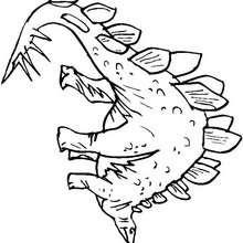 Desenho de um Estegossauro pré-histórico para colorir