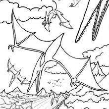 Desenho de um Pterodáctilo para colorir