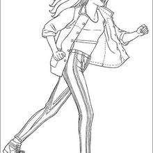 Desenho da Barbie esportista para colorir