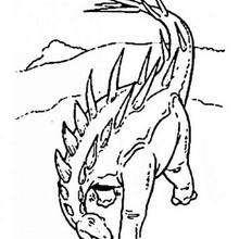 Desenho de um Estegossauro perigoso para colorir