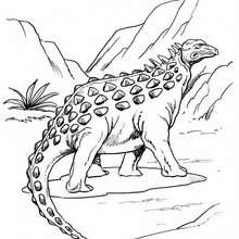 Desenho de um Anquilossauro diferente para colorir