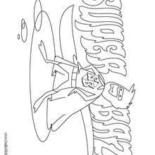 Desenho do Super-herói Baz para colorir