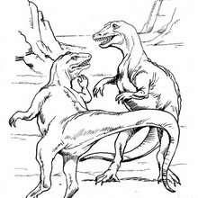 Desenho de um Tarbossauro para colorir