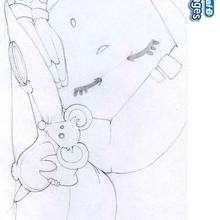 Desenho do ratinho que vem pegar o dente para colorir