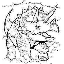 Desenho de um Tricerátopo para colorir