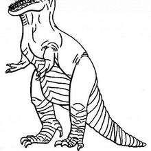 Desenho de um Tiranossauro para colorir