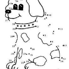 Ligue os pontos - Cachorro fofo