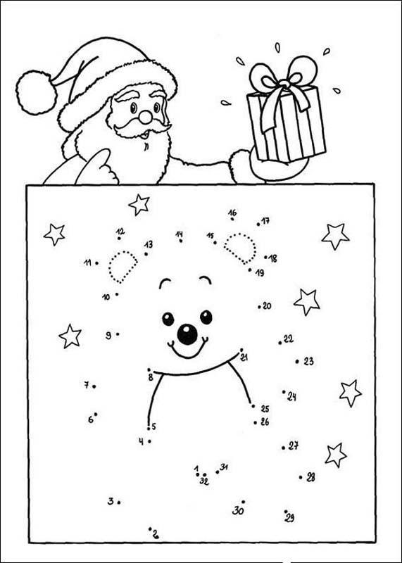 Ligue os pontos - Papai Noel