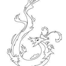 Desenho de um dragão chinês para colorir