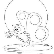 Desenho de uma Borboleta Fofinha para colorir