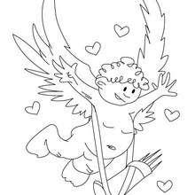 Desenho de um cupido fofo para colorir