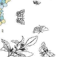Desenho de Borboletas voando para colorir
