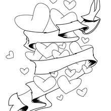 Desenho de um lindo coração para imprimir e colorir