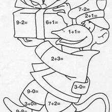 O macaco trazendo o presente : colorindo pelos números