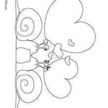 Desenho de caracois apaixonados para colorir