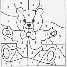 Colorindo o ursinho Teddy pelos números