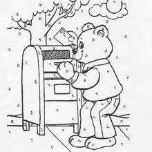 O ursinho Teddy : colora pelos números
