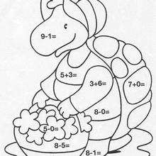 Linda tartaruga e suas flores : colorindo pelos números