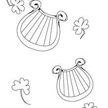 Desenho de uma Harpa irlandesa para colorir