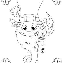 Retrato de um Leprechaun para colorir