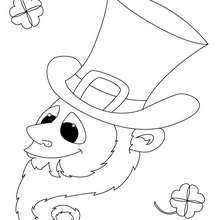 Leprechaun para colorir online