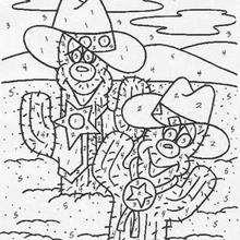 Colorindo os cactus pelos números