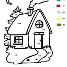 casa, Linda casinha : calculando e colorindo