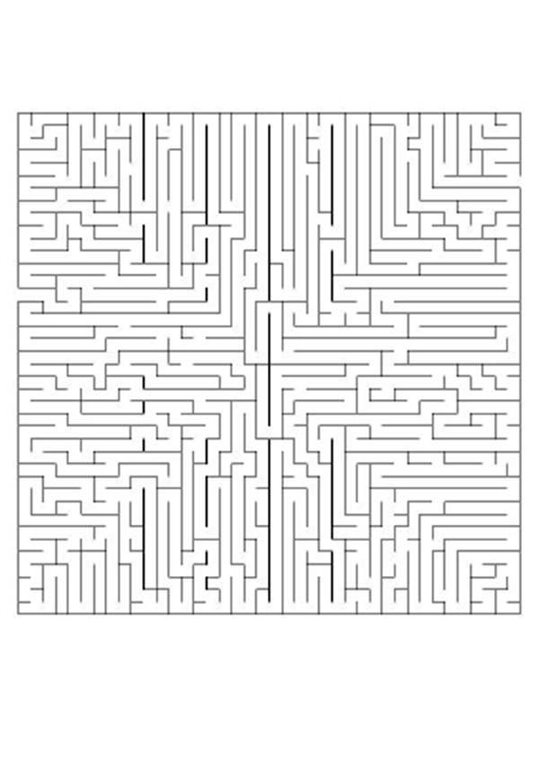 Labirinto difícil para imprimir: ACHE ESTRADA CERTA
