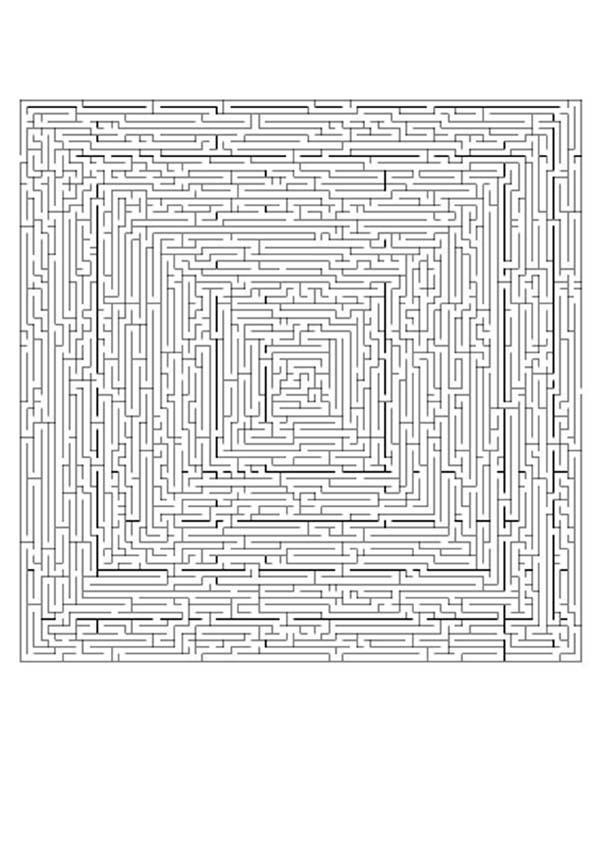 Labirinto MUITO MUITO difícil para imprimir