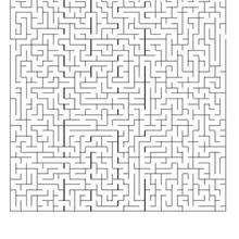 Labirinto difícil: ACHE O CAMINHO