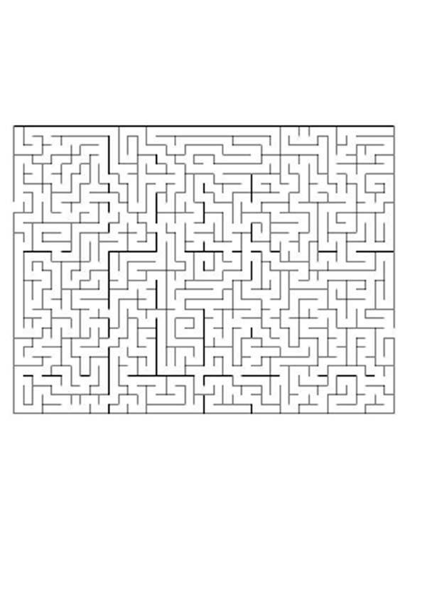Labirinto difícil: QUAL O CAMINHO?