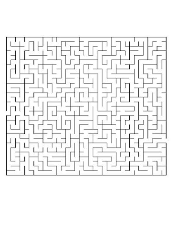 Labirinto difícil para os que estão CONCENTRADOS