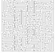 Labirinto difícil para imprimir: ACHE A DIREÇÃO