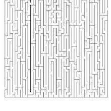 Labirinto difícil para imprimir: ACHE O PERCURSO MAIS CURTO