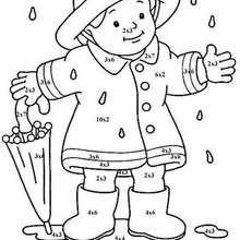 O menino e seu guarda chuva : colorindo pelos números